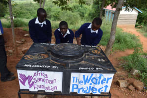 The Water Project: Kikuswi Secondary School -  Boys At The New Handwashing Station