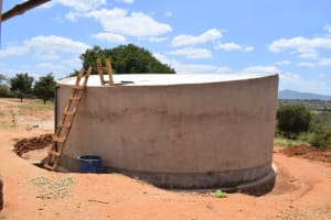 The Water Project: Kikuswi Secondary School -  Complete Tank Awaiting Paint