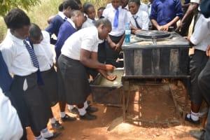 The Water Project: Kikuswi Secondary School -  Handwashing Demonstration
