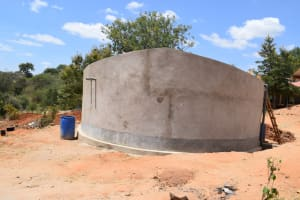 The Water Project: Kikuswi Secondary School -  Tank Construction Complete