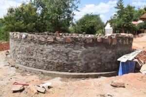 The Water Project: Kikuswi Secondary School -  Tank Under Construction