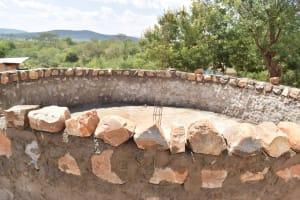 The Water Project: Kikuswi Secondary School -  Tank Walls
