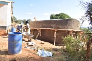 The Water Project: Kikuswi Secondary School -  Wall Construction Nearly Complete