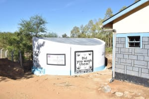 The Water Project: AIC Kyome Boys' Secondary School -  Finished Tank