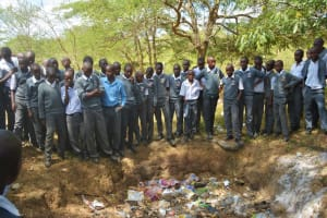 The Water Project: AIC Kyome Boys' Secondary School -  Students Learn About Proper Waste Disposal