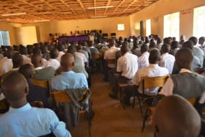 The Water Project: AIC Kyome Boys' Secondary School -  Students Listen To Training