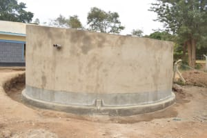 The Water Project: AIC Kyome Boys' Secondary School -  Tank Awaits Fresh Coat Of Paint