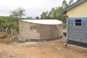 The Water Project: AIC Kyome Boys' Secondary School -  Tank Cement Drying