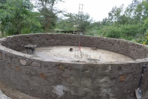 The Water Project: AIC Kyome Boys' Secondary School -  Tank Under Construction