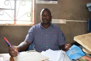The Water Project: Kangutha Primary School -  Headteacher Cirus Ireri