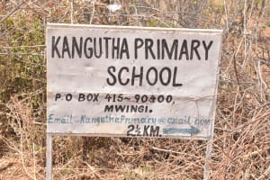 The Water Project: Kangutha Primary School -  School Sign
