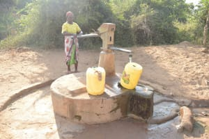The Water Project: Nyanyaa Secondary School -  Fetching Water From The Well