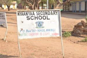 The Water Project: Nyanyaa Secondary School -  School Sign