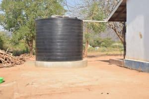 The Water Project: Nyanyaa Secondary School -  Small Raintwater Tank