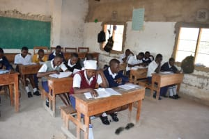 The Water Project: Nyanyaa Secondary School -  Students In Class