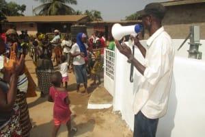 The Water Project: Kasongha, 8 BB Kamara Street -  Deen Mansaray Land Owner Laeding Prayer