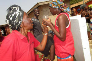 The Water Project: Kasongha, 8 BB Kamara Street -  Old Woman Happy For Safe Drinking Water