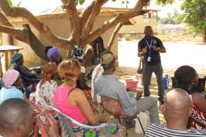 The Water Project: Kasongha, 8 BB Kamara Street -  People Listen During Hygiene Training