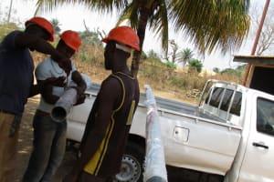 The Water Project: Kasongha, 8 BB Kamara Street -  Well Materials