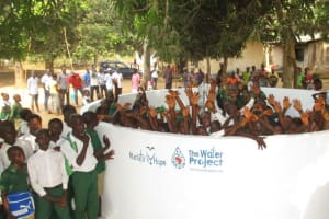 The Water Project: DEC Makassa Primary School -  Celebration At The New Well
