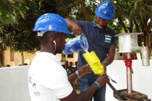 The Water Project: DEC Makassa Primary School -  Chlorination