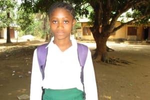 The Water Project: DEC Makassa Primary School -  Head Girl Mamie Sesay