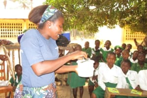 The Water Project: DEC Makassa Primary School -  Lesson On Diarrhea Treatment