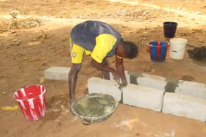 The Water Project: DEC Makassa Primary School -  Pad Construction