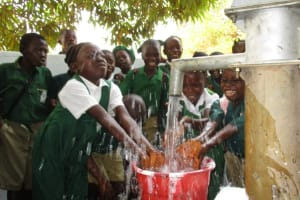 The Water Project: DEC Makassa Primary School -  Reliable Water