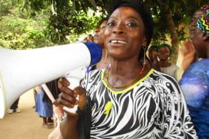 The Water Project: DEC Makassa Primary School -  Safiatu Kamara Leads A Temene Song