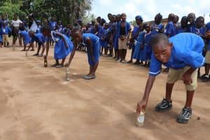 The Water Project: Mahera, SLMB Primary School -  Balancing Race