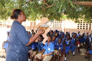 The Water Project: Mahera, SLMB Primary School -  Diarrhea Doll