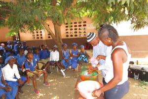 The Water Project: Mahera, SLMB Primary School -  Discussing Handwashing