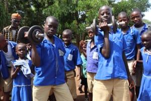The Water Project: Mahera, SLMB Primary School -  Dumbells