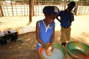 The Water Project: Mahera, SLMB Primary School -  Student Handwashing Demonstration