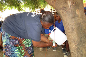 The Water Project: Mahera, SLMB Primary School -  Tippy Tap Demonstration