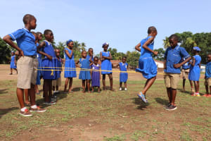 The Water Project: Mahera, SLMB Primary School -  Traditional Skipping Game