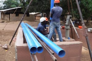 The Water Project: Mahera, SLMB Primary School -  Casing