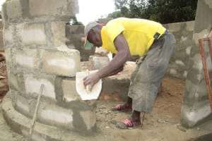 The Water Project: Mahera, SLMB Primary School -  Cement Work