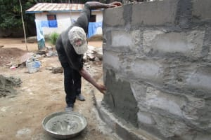 The Water Project: Mahera, SLMB Primary School -  Cementing The Wall