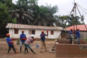 The Water Project: Mahera, SLMB Primary School -  Drill Rig