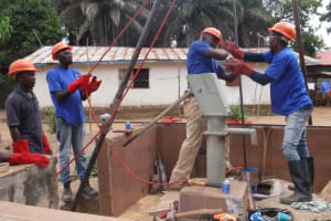 The Water Project: Mahera, SLMB Primary School -  Drilling
