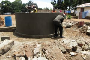The Water Project: Mahera, SLMB Primary School -  Nearly Complete Well Pad And Wall