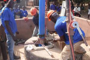The Water Project: Mahera, SLMB Primary School -  Well Rehab Underway