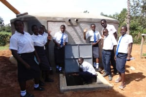 The Water Project: Bululwe Secondary School -  Completed Tank