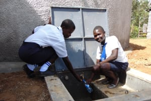 The Water Project: Bululwe Secondary School -  Filling Up