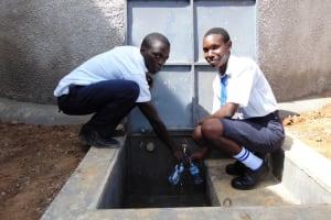The Water Project: Bululwe Secondary School -  Flowing Water