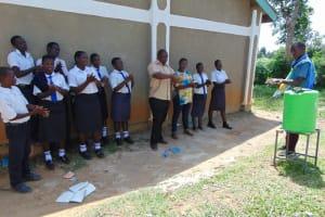 The Water Project: Bululwe Secondary School -  Handwashing Demonstration