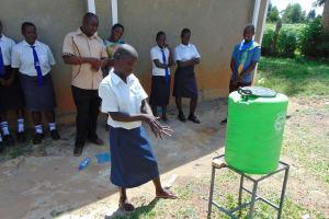 The Water Project: Bululwe Secondary School -  Handwashing Practice