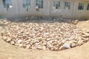 The Water Project: Eshiakhulo Primary School -  Tank Foundation